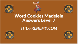 Word Cookies Madelein Level 7 Answers
