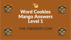 Word Cookies Mango Answers Level 1