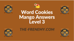 Word Cookies Mango Answers Level 3