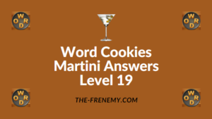 Word Cookies Martini Answers Level 19