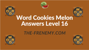 Word Cookies Melon Answers Level 16