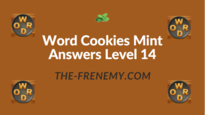Word Cookies Mint Answers Level 14