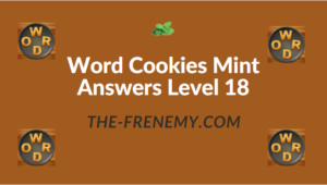 Word Cookies Mint Answers Level 18