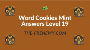 Word Cookies Mint Answers Level 19