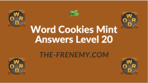 Word Cookies Mint Answers Level 20
