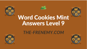 Word Cookies Mint Answers Level 9