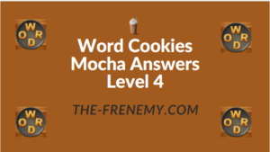 Word Cookies Mocha Answers Level 4