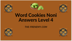 Word Cookies Noni Level 4 Answers
