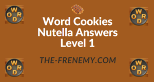 Word Cookies Nutella Answers Level 1