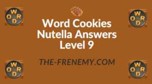 Word Cookies Nutella Answers Level 9