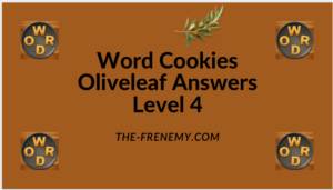 Word Cookies Oliveleaf Level 4 Answers