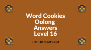 Word Cookies Oolong Level 16 Answers