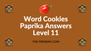 Word Cookies Paprika Answers Level 11