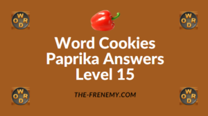 Word Cookies Paprika Answers Level 15