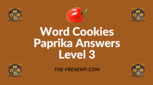 Word Cookies Paprika Answers Level 3