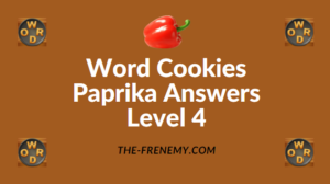 Word Cookies Paprika Answers Level 4