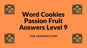 Word Cookies Passion Fruit Level 9 Answers