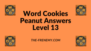Word Cookies Peanut Level 13 Answers