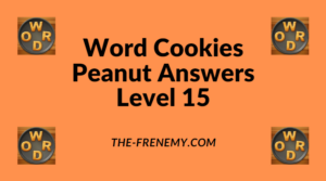 Word Cookies Peanut Level 15 Answers