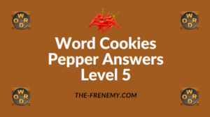 Word Cookies Pepper Answers Level 5