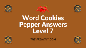Word Cookies Pepper Answers Level 7