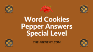 Word Cookies Pepper Answers Special Level