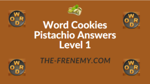 Word Cookies Pistachio Answers Level 1