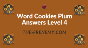 Word Cookies Plum Answers Level 4
