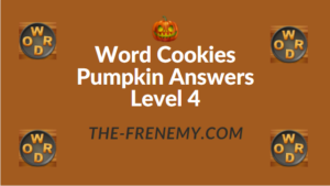 Word Cookies Pumpkin Answers Level 4