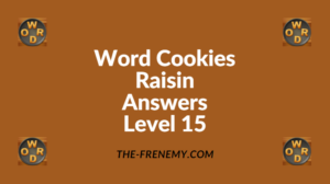 Word Cookies Raisin Level 15 Answers