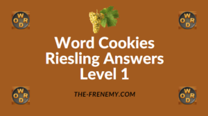 Word Cookies Riesling Answers Level 1