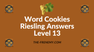 Word Cookies Riesling Answers Level 13