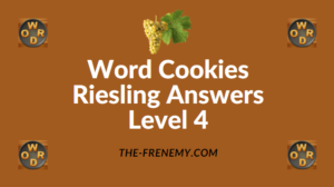 Word Cookies Riesling Answers Level 4