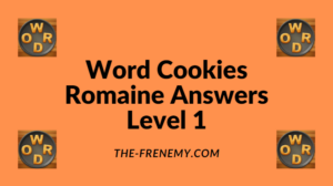 Word Cookies Romaine Level 1 Answers