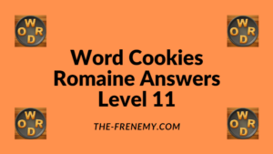 Word Cookies Romaine Level 11 Answers