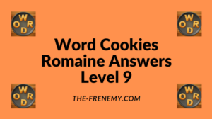 Word Cookies Romaine Level 9 Answers