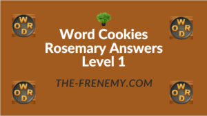 Word Cookies Rosemary Answers Level 1