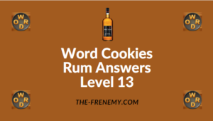 Word Cookies Rum Answers Level 13