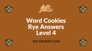 Word Cookies Rye Answers Level 4