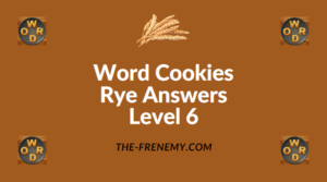 Word Cookies Rye Answers Level 6