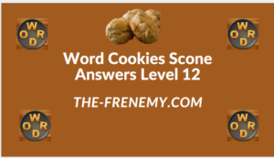 Word Cookies Scone Level 12 Answers