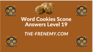 Word Cookies Scone Level 19 Answers