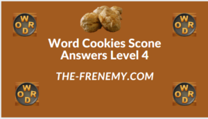 Word Cookies Scone Level 4 Answers
