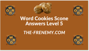 Word Cookies Scone Level 5 Answers