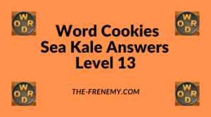 Word Cookies Sea Kale Level 13 Answers