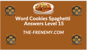Word Cookies Spaghetti Level 15 Answers