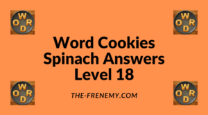 Word Cookies Spinach Level 18 Answers