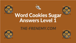 Word Cookies Sugar Answers Level 1