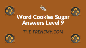Word Cookies Sugar Answers Level 9