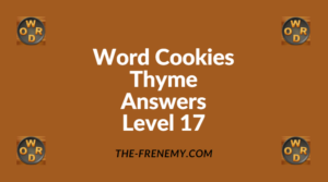 Word Cookies Thyme Level 17 Answers
